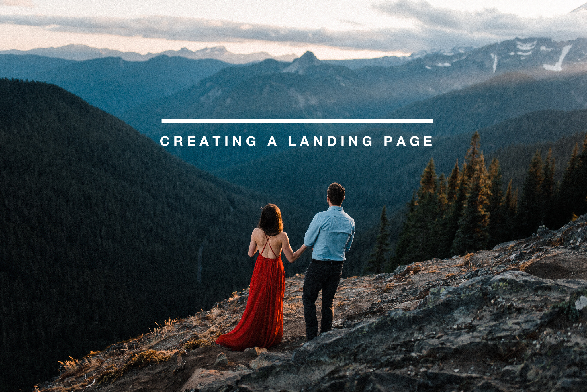 how to build a landing page for photographers